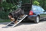 Easy-Hopper Hunderampe Extra Breit Komfort Natur mit Rasenbelag